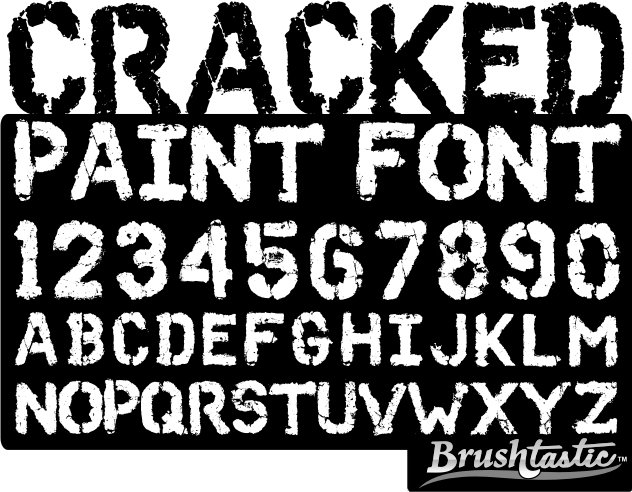 Brushtastic Cracked Paint Font