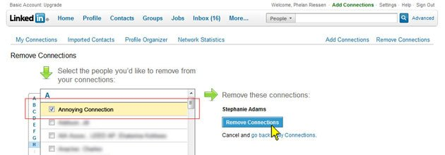How to remove connections and contacts on LinkedIn